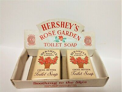 Rare 1938 - 1952 Hershey's Rose Garden Toilet Soap Box 2 Soaps Made in Hershey