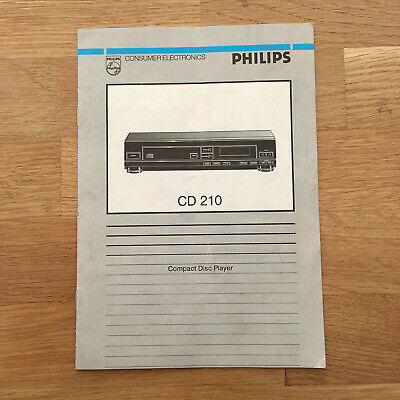 Philips CD-210 Original CD Player Manual / Operating Instructions