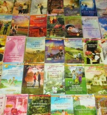 LOVE INSPIRED Lot of 33 - ROMANCE/SOFTCOVERS - Hart, Aarsen, Worth, Daley, James
