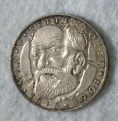 GERMANY 5 MARK 1968 D SILVER COIN  ( stock# 509)