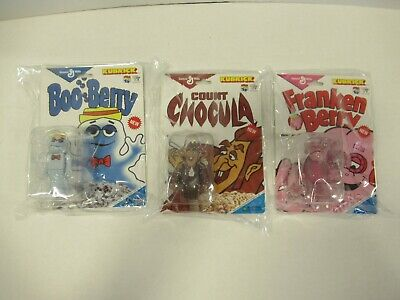 COUNT CHOCULA, BOO BERRY, & FRANKEN BERRY Set of 3 Kubrick Toy Tokyo Figures ZQ