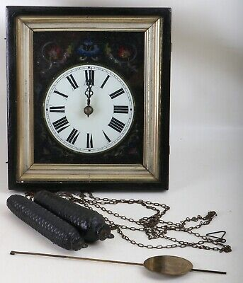 Antique Frame Clock Schwarzwald Biedermeier Picture Clock Um 1840