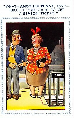 Bamforth Brown Triangle Comic P/C No 964  Toilet Unused Good+ Very Good R