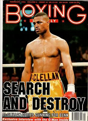 MAGAZINE ~ 'BOXING MONTHLY' Boxer GERALD McCLELLAN ~ February 1995