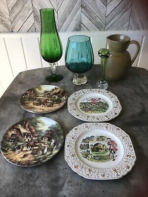 Job Lot Decorative Vases & Collectors plates ...please See Pictures..