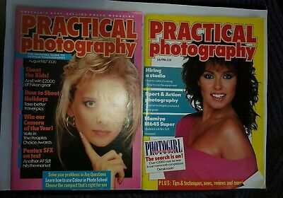 2 Vintage 80's Practical Photography Monthly Magazines Very good Condition