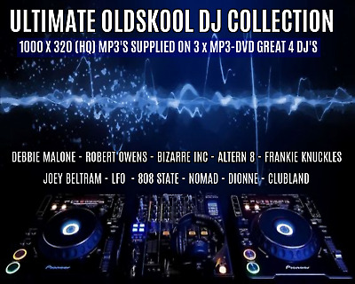 The Ultimate Oldskool DJ Collection 1000 HQ MP3'S - 3 x MP3-DVD