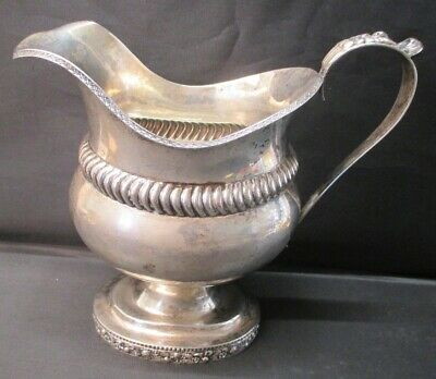 Antique American Coin Silver Creamer Unmarked Early 19th Century Lovely