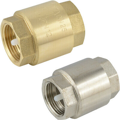 Check Valve Brass To 12 BAR For Compressed Air Water Mineral Oils