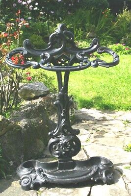 Victorian Stick Stand James Yates Cast Iron 1842 Rare