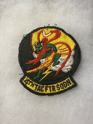 USAF 4th Tactical Fighter Squadron Patch 3 1/2 Inch Worn (F179