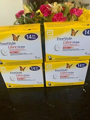 FreeStyle Free Style Libre 14 Day Senors 4 Brand New Boxes
