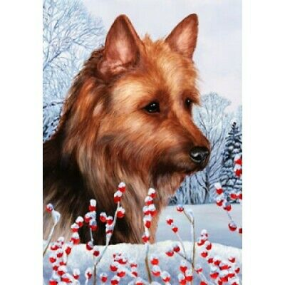 Winter Garden Flag - Australian Terrier 152031