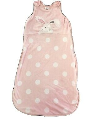 Next Baby Girls Pink Bunny/Rabbit Sleep Bag Size 6-18 Months