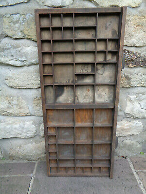 Vintage Original Printer's Tray Hardwood & Pine+ Different Size Sections