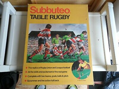 Subbuteo Table Rugby - boxed set