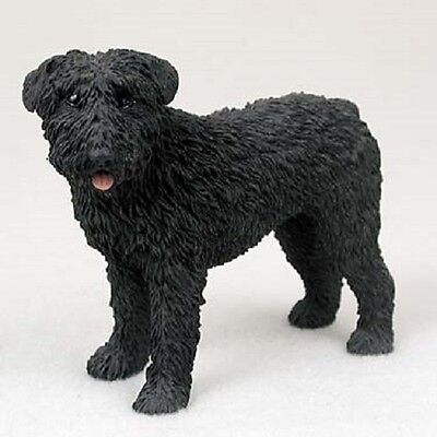 BOUVIER DES FLANDRES Uncropped Dog HAND PAINTED FIGURINE Resin Statue puppy NEW