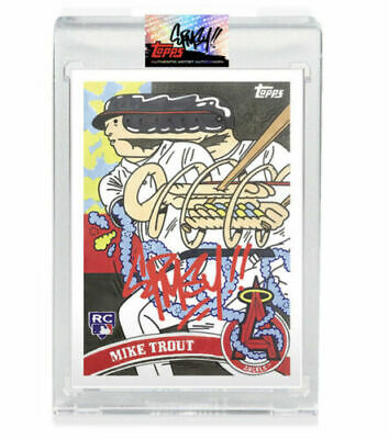 Topps Project 2020 # 4 Mike Trout #/99 Autograph By Ermsy In Angel Red! Presale!
