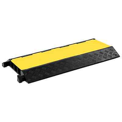 vidaXL Cable Protector Ramp 3 Channels Rubber 93cm Conduit Wire Road Cover#