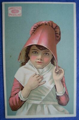 James Pyles Pearline Soap Advertising Trade Card Girl