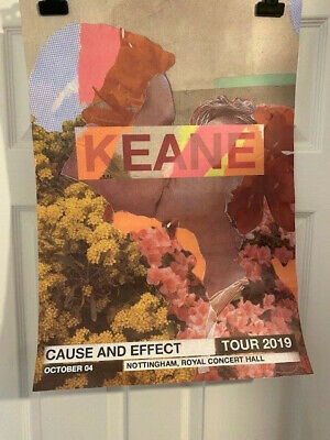 KEANE Cause And Effect 2019 Tour Poster for NOTTINGHAM RCH 4 Oct VIP Poster Only