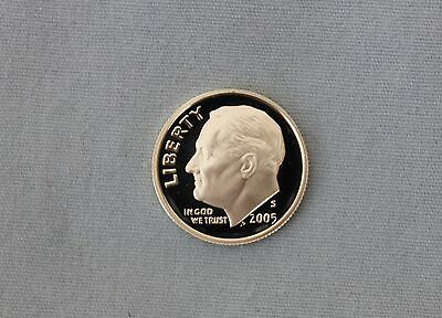 2005-S Roosevelt Silver Proof Dime Cameo