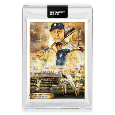 Topps PROJECT 2020 Card 82 - 1993 Derek Jeter by Andrew Thiele - LIMITED EDITION