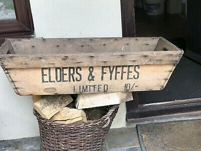 Vintage Fyffes & Elders old wooden  Banna Box Garden Planter