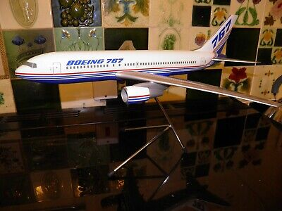 Travel agent display model. Boeing 767 airliner. Boeing colours .Made Spacemodel