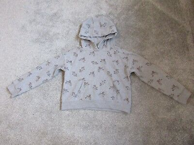 Next girls 10 years grey unicorn hoody hooded top jacket