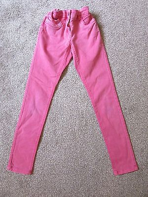 Next girls 11 years pink wash effect skinny jeans - good condition