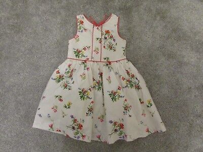 Pretty Next girls 5 years white floral pattern Summer Holiday sleeveless dress