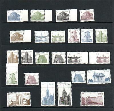 (F842)  IRELAND 1980'S - DECIMAL DEFINITIVES VALUES TO £5 as scan all MNH