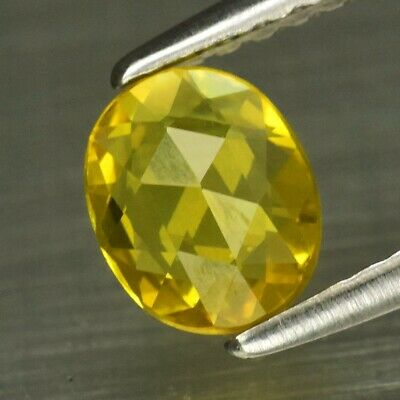 VS 0.56ct 6x5mm Oval Rose-Cut Natural Yellow Sapphire, Songea