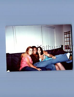 Found Color Photo X_6058 Pretty Women Posed Sitting On Couch