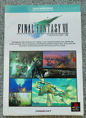 Final Fantasy Vii Guide Book Series 1997 Playstation Japanese Text Lightly Used
