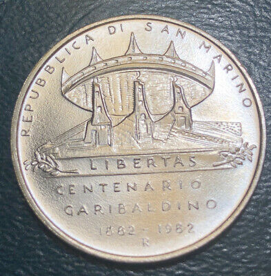 Uncirculated 1982 San Marino Silver Coin Large 500 Lire  Rare Low Mintage