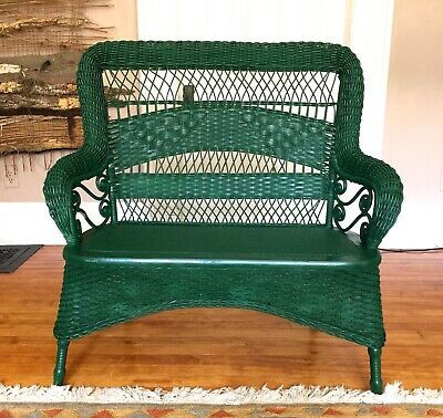 Antique Larkin & Co. Wicker Settee