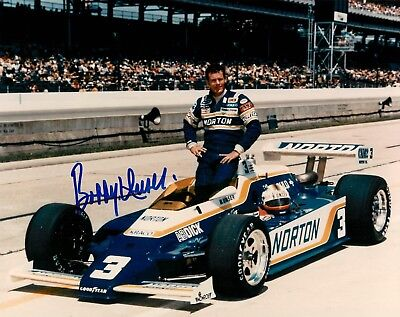 Bobby Unser Signed Indy Racing IRL 8x10 Timeless Legends COA