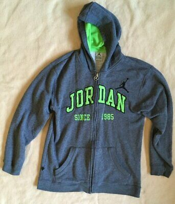 Michael Jordon Gray Hooded Sweatshirt SINCE 1985 Size - Large