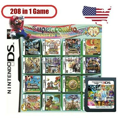 208 in 1 DS Games Cartridge Gaming for DS DS Lite DSi 3DS 2DS Hot Games