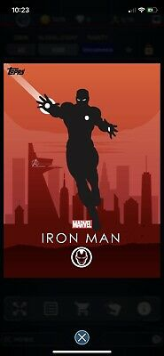 Topps Marvel Collect - Iron Man Silhouette Award Uncommon 1586cc *Digital