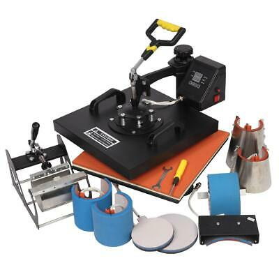 """8 In 1 15"""" x15"""" Digital Heat Press Machine Sublimation for T-Shirt Plate 1420W"""