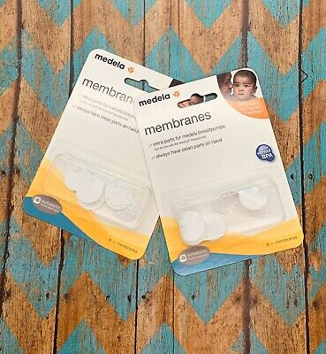 Medela Replacement Spare Membranes Package of 6 Count - LOT OF 2