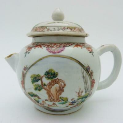 Chinese Famille Rose Porcelain Teapot And Cover, 18Th Century Qianlong Period