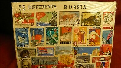 25 differant stamps Russian package P850