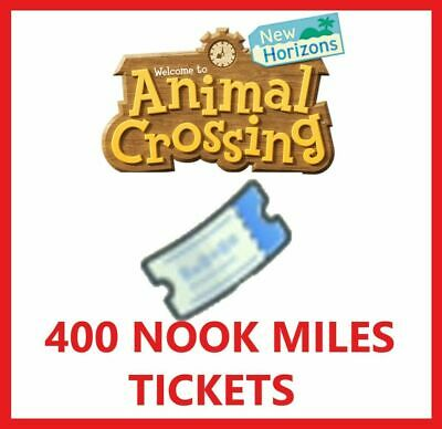 ONLINE INSTANT ACCESS NMT PICK UP Animal Crossing  400 Nook Miles Tickets
