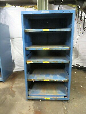 STEEL CLOSED SHELF CABINET stanley vidmar 30 wide 27 deep 59 tall USED