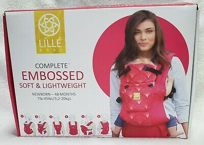 NEW Lille Baby 6 in 1 Complete Six Positions Embossed Baby Carrier Coral 360