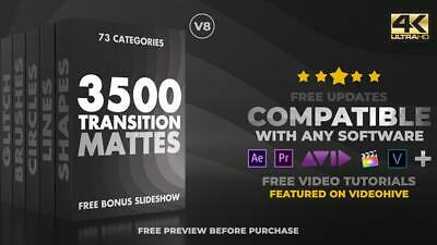 Motion Graphics VideoHive Ultimate Transition Mattes Pack v.8 МР4 AEP